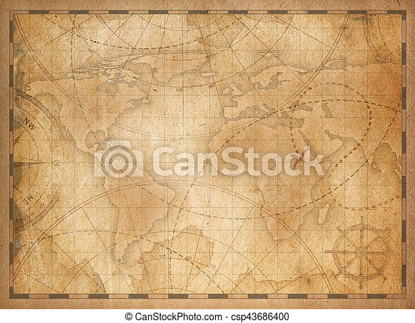 Old world map background old nautical vintage world map theme old world map background csp43686400 gumiabroncs Gallery
