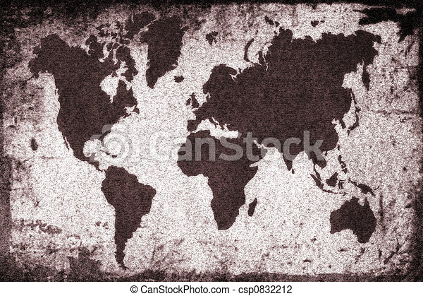 Old World Map Old Rusty World Map World Map - Old world map black and white