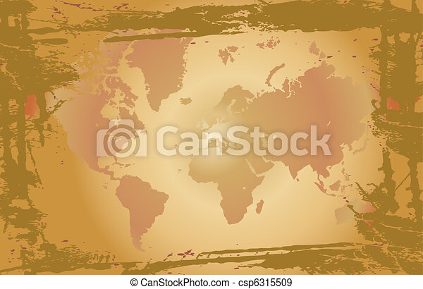 Old world map vector illustration eps vectors search clip art old world map vector gumiabroncs Gallery