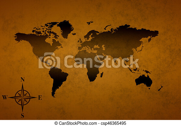 Old world map the old pirate world map background image stock old world map csp46365495 gumiabroncs Gallery