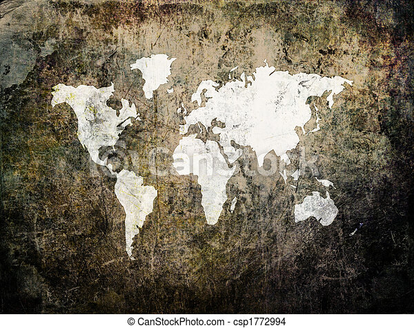 Old world map on retro paper old world map on grunge retro old world map on retro paper stock illustration gumiabroncs Gallery