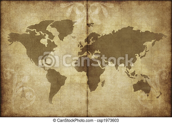 Old world map parchment paper great image of old and worn parchment old world map parchment paper csp1973603 gumiabroncs Images