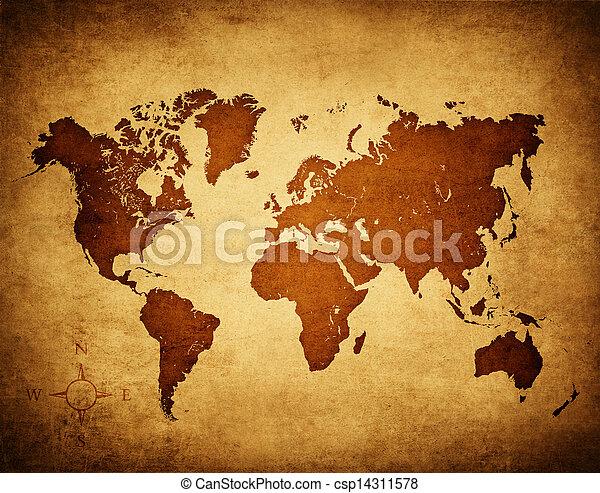 old world map - csp14311578
