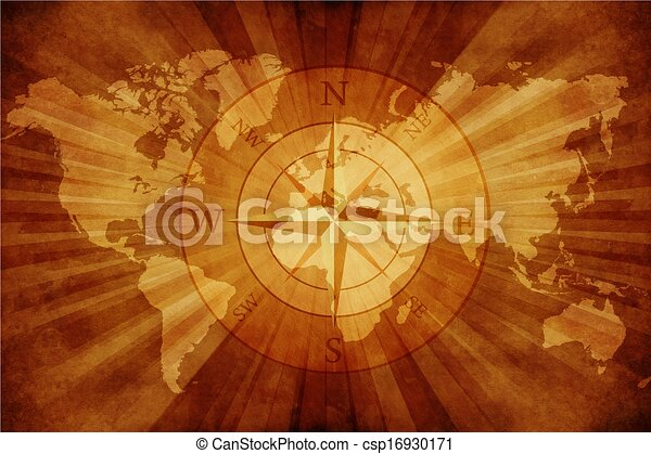 Old world map with compass rose grungy old paper world map stock old world map csp16930171 gumiabroncs Image collections