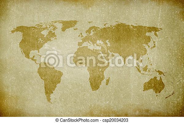 old world map - csp20034203