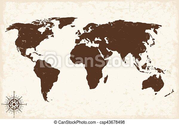 Old world map with grunge vector illustration eps vectors search old world map with grunge vector illustration gumiabroncs Choice Image