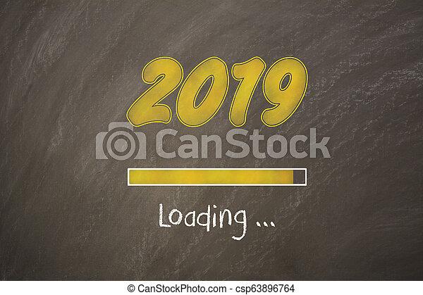 Old Year New Year 2019 on Blackboard - csp63896764