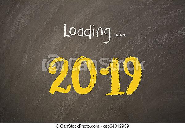 Old Year New Year 2019 on Blackboard - csp64012959