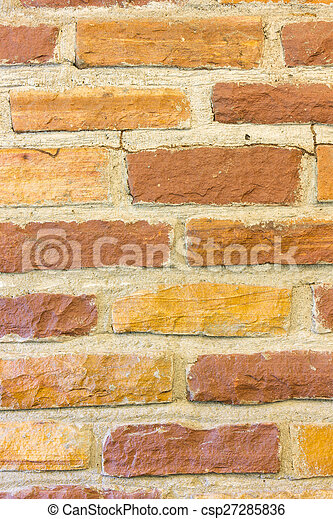 Old yellow and brown brick wall background stock photos - Search ...
