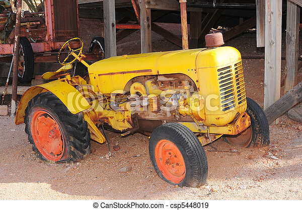 Old Yellow Tractor - csp5448019