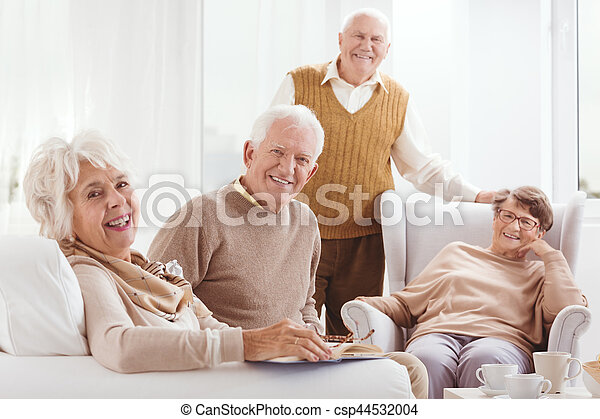 Older and happy together - csp44532004