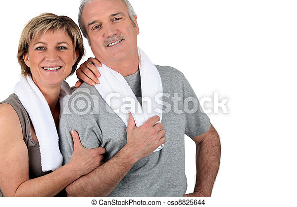 Older couple after exercising - csp8825644