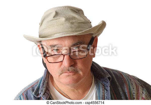 older man in a hat - csp4556714
