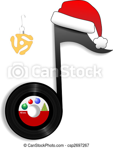 Oldies Note for Holiday Christmas Music 1 - csp2697267