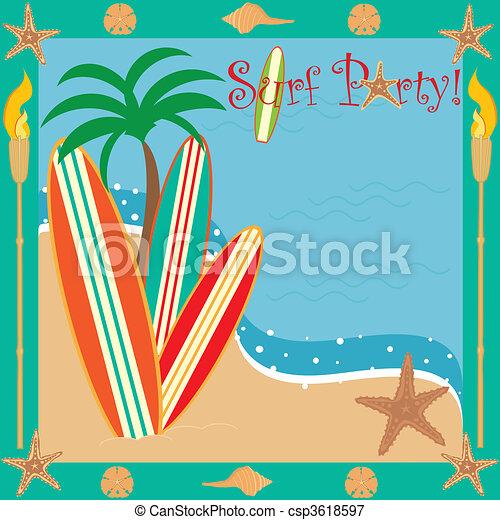 Fiesta de surf - csp3618597