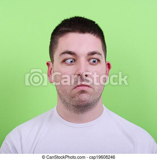 olhar, retrato, confundido, homem - csp19608246