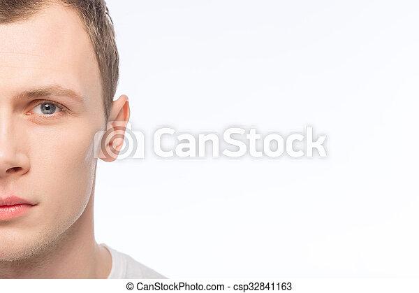 olhar, sério, bonito, homem - csp32841163