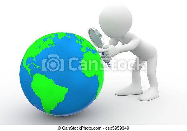 olhar, terra, homem - csp5959349