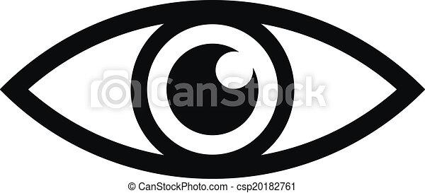 olho, ícone - csp20182761