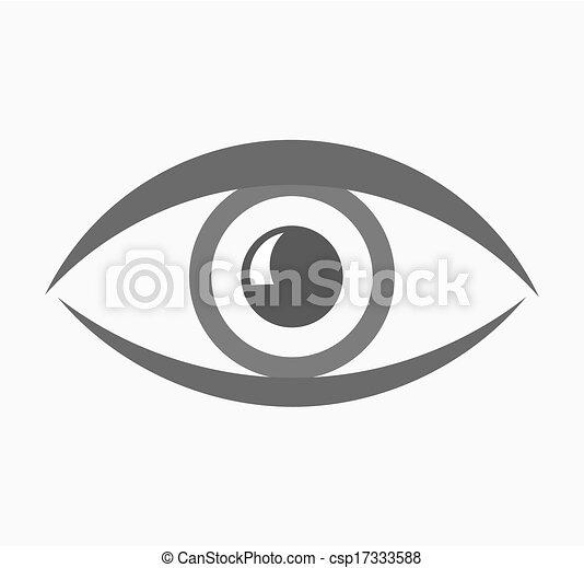 olho, ícone - csp17333588