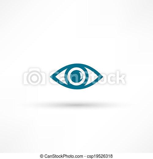 olho azul, ícone - csp19526318
