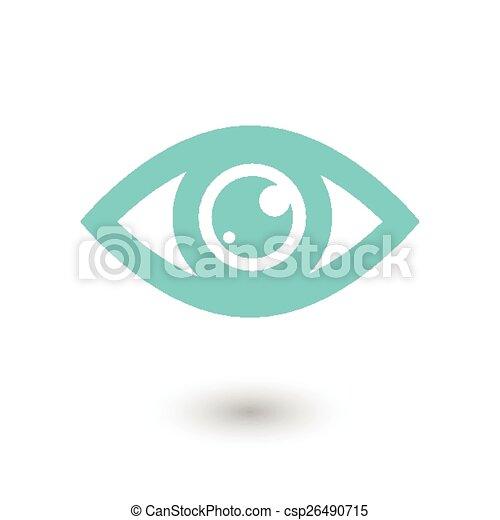 olho azul, ícone - csp26490715