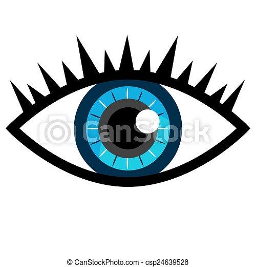 olho azul, ícone - csp24639528