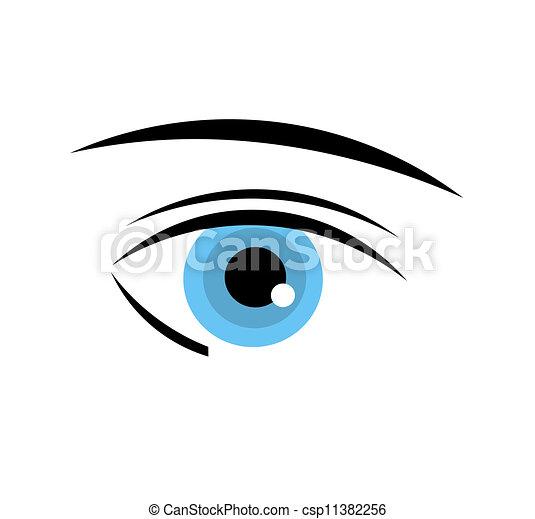 olho azul - csp11382256