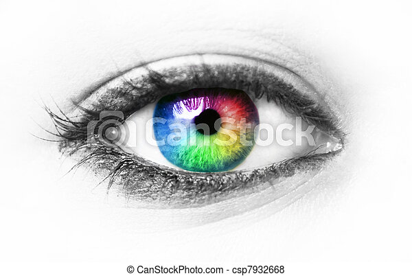olho, coloridos - csp7932668