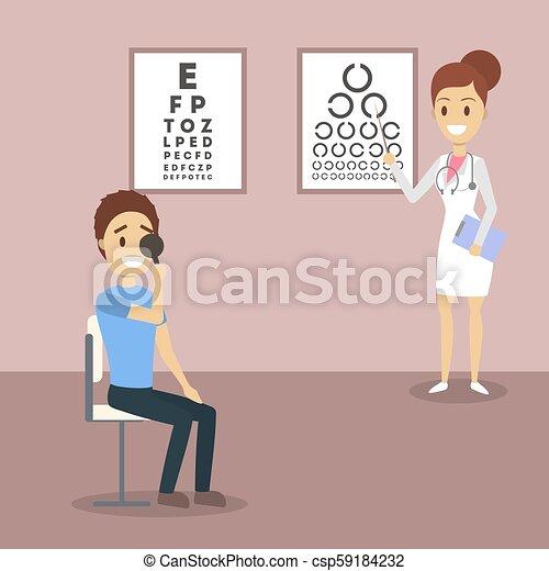 olho, ophtalmologist, exame - csp59184232