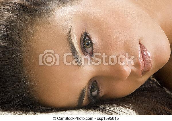 olhos, agradável - csp1595815