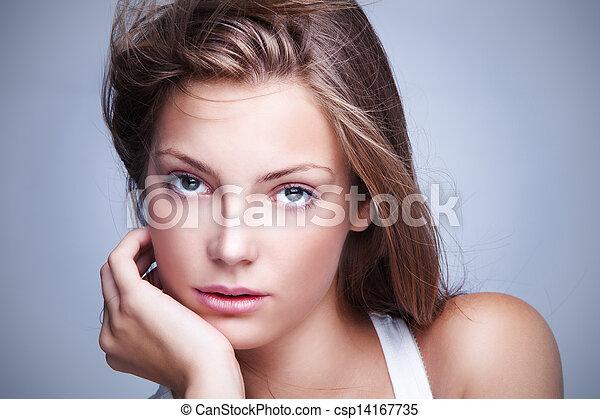 olhos azuis - csp14167735