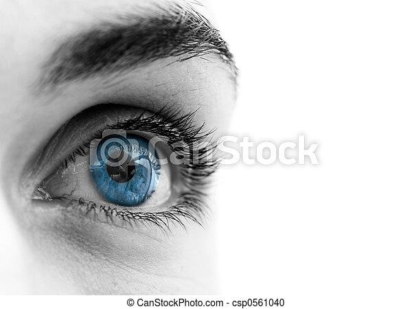 olhos azuis - csp0561040