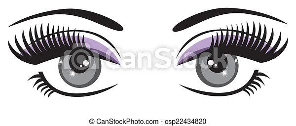 olhos azuis - csp22434820