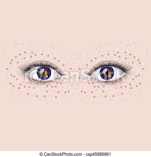 olhos bonitos, femininas - csp45886961