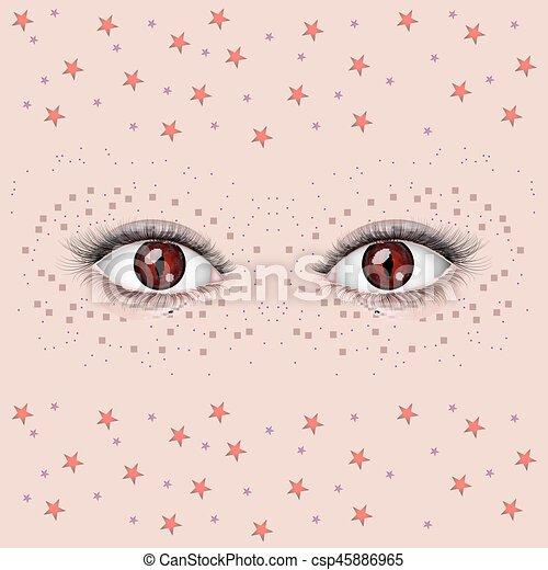 olhos bonitos, femininas - csp45886965