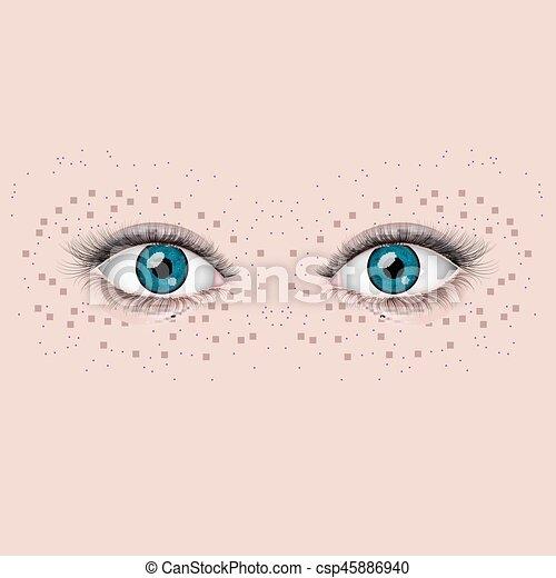 olhos bonitos, femininas - csp45886940