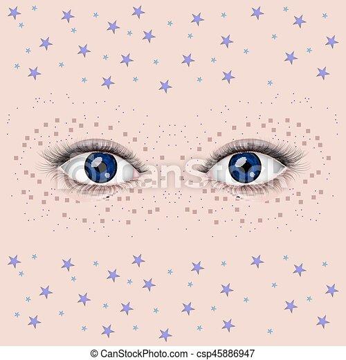 olhos bonitos, femininas - csp45886947