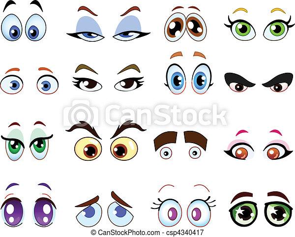 olhos, caricatura - csp4340417