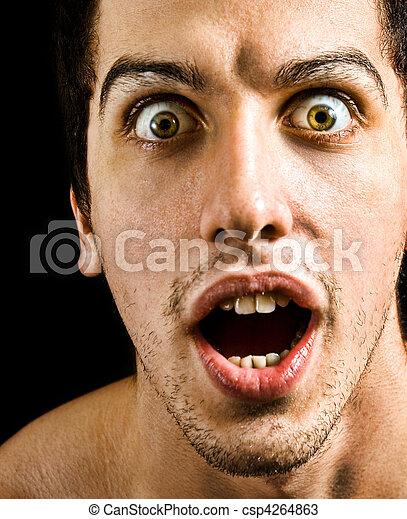 olhos, conceito, grande, wow, -, espantado, homem - csp4264863