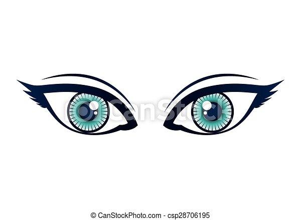 Olhos Desenho Olhos Sobre Ilustracao Fundo Vetorial Desenho
