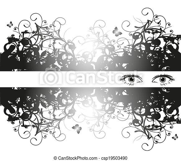 olhos, femininas - csp19503490