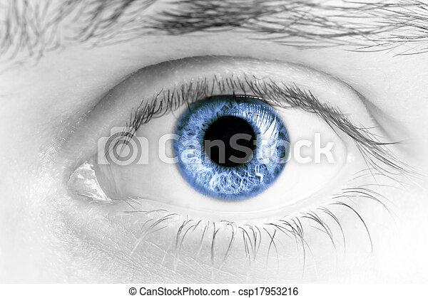olhos, homem - csp17953216
