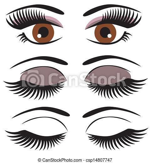 olhos marrons - csp14807747