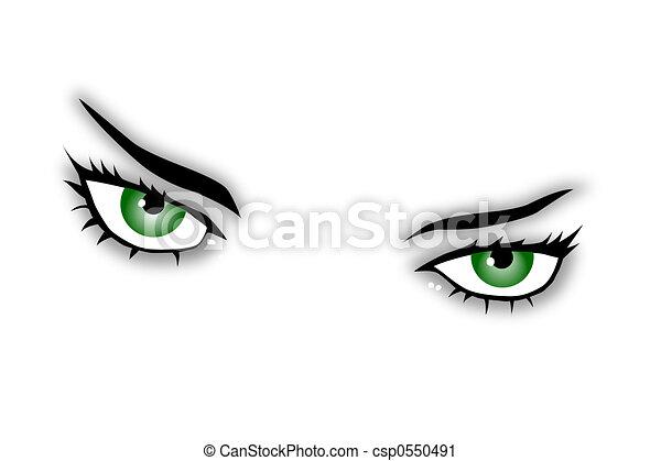 olhos, verde - csp0550491