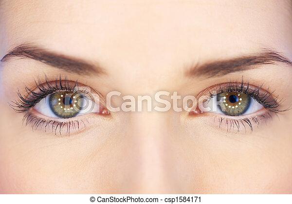 olhos, verde - csp1584171