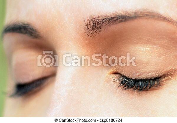 olhos, womans - csp8180724