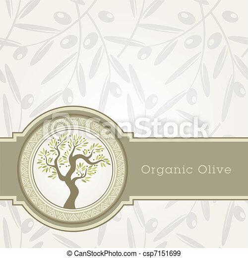 olio, sagoma, oliva, etichetta - csp7151699