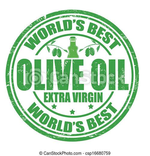 oliva, francobollo, olio - csp16680759