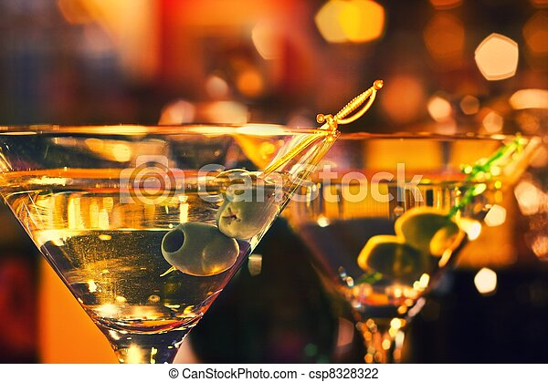 Olive and glass Martini - csp8328322